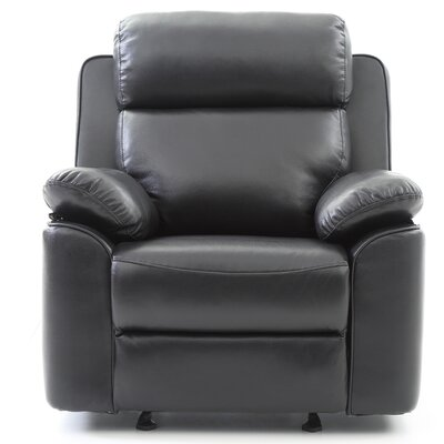 McLelland Manual Rocker Recliner Color: Black