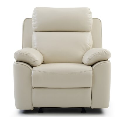 McLelland Rocker Recliner Color: Pearl White