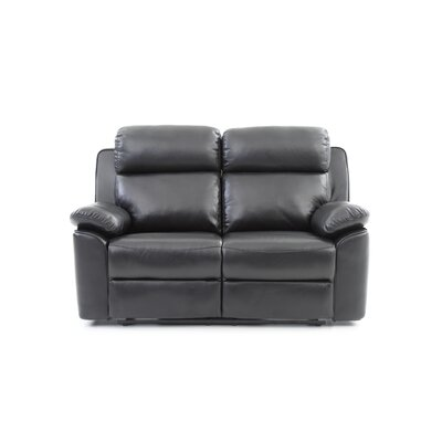 McLelland Reclining Loveseat Upholstery: Black