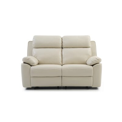McLelland Reclining Loveseat Color: Pearl White