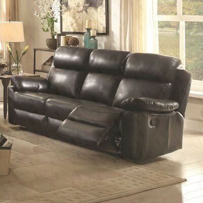 McLelland Reclining Sofa Color: Black