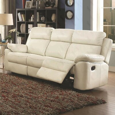 McLelland Reclining Sofa Color: Pearl White