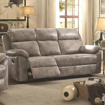 McLelland Reclining Sofa Upholstery: Gray