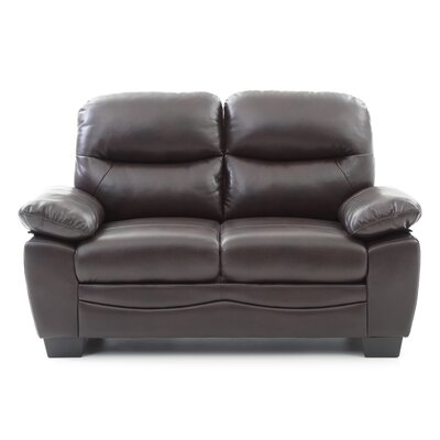 Mcnabb Loveseat Color: Dark Brown