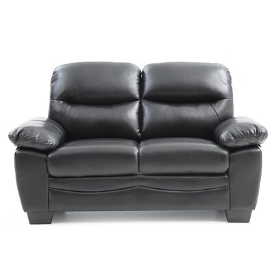 Mcnabb Loveseat Color: Black