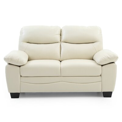 Mcnabb Loveseat Color: Pearl