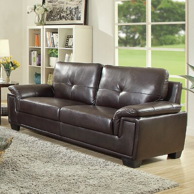 Meissner Sofa Color: Dark Brown
