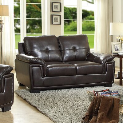 Meissner Loveseat Color: Dark Brown