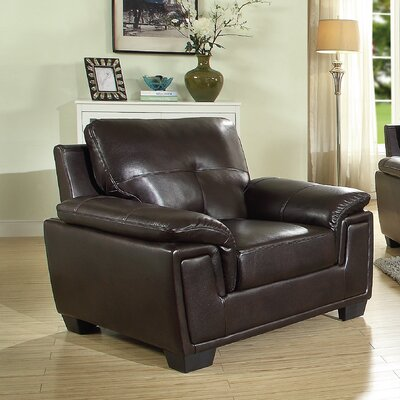 Meissner Armchair Upholstery: Dark Brown
