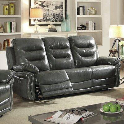 Melanson Reclining Sofa Color: Gray