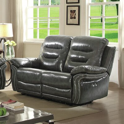 Melanson Reclining Loveseat Color: Gray