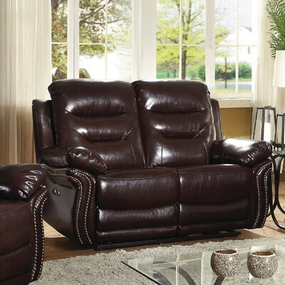 Melanson Loveseat Color: Brown