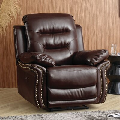 Melanson Recliner Color: Brown