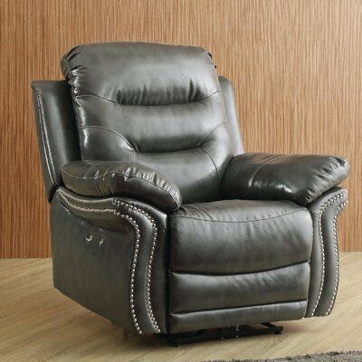 Melanson Power Recliner Upholstery: Gray