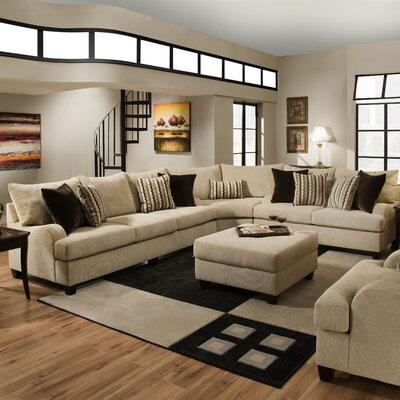Matherville Reversible Sectional with Ottoman