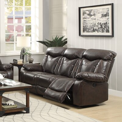 Bonenfant Leather Reclining Sofa Recliner Mechanism: Manual