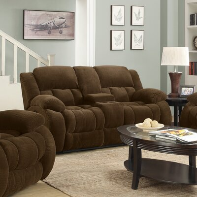 Bolander Reclining Sofa Upholstery: Brown