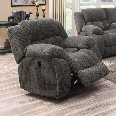 Bolander Glider Recliner Upholstery: Gray