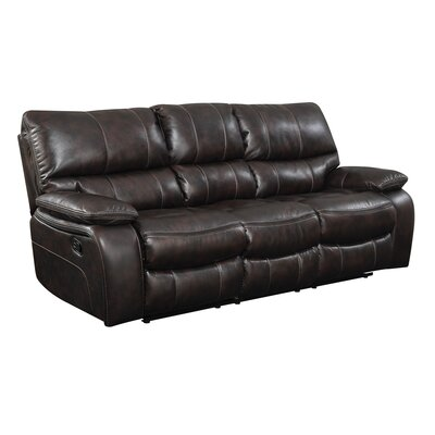 Red Barrel Studio RDBL1797 Bomberger Leather Reclining Sofa