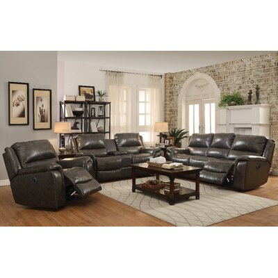 Red Barrel Studio RDBL1800 Bolander Leather Reclining Sofa