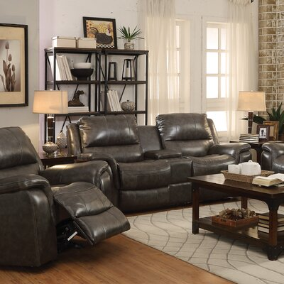 Red Barrel Studio RDBL1801 Bolander Leather Reclining Loveseat