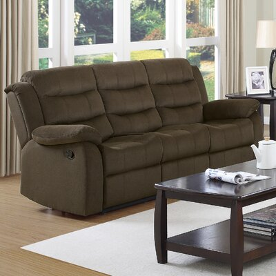 Falls Casual Solid Reclining Sofa Upholstery: Chocolate