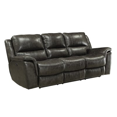 Red Barrel Studio RDBL1896 Hughes Leather Reclining Sofa