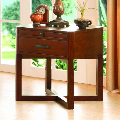 Birkett End Table with Storage