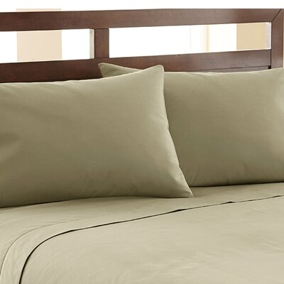 Biggsville 1200 Thread Count Cotton Blend Sheet Set Size: King, Color: Khaki