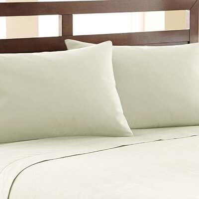Biggsville 1200 Thread Count Cotton Blend Sheet Set Size: King, Color: Ivory