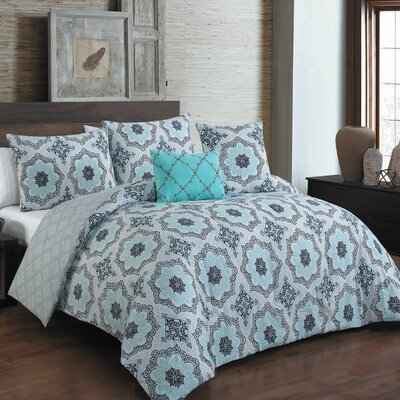 Bergeson 5 Piece Reversible Comforter Set Size: Queen