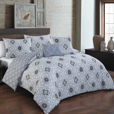 Bergeson 5 Piece Reversible Queen Comforter Set
