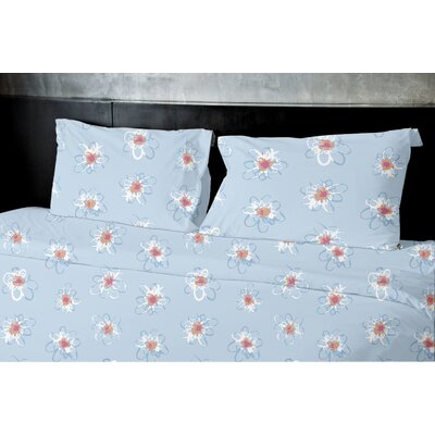 High Meadow Duvet Set Size: King, Color: Light Blue