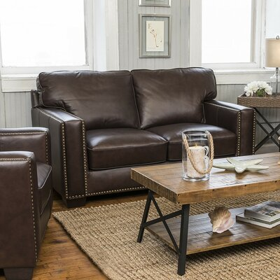 Harpe Leather Loveseat