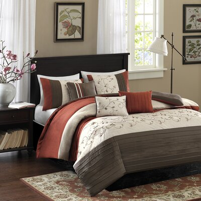 Southbury 6 Piece Duvet Cover Set Color: Spice, Size: King / California King