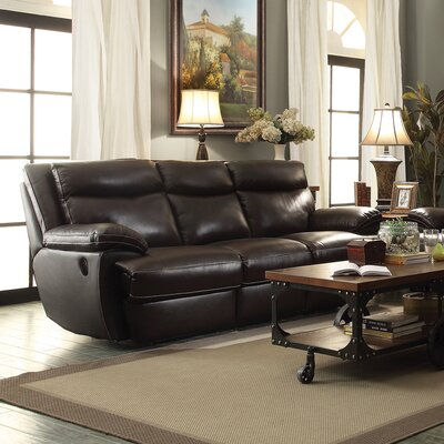 Red Barrel Studio RDBL1894 Hughes Leather Reclining Sofa