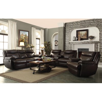 Red Barrel Studio RDBL1895 Hughes Leather Reclining Loveseat