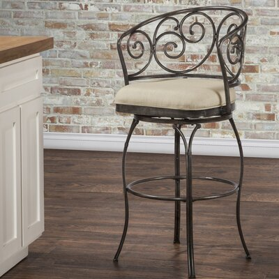 Houghton 26 Swivel Indoor/Outdoor Patio Bar Stool