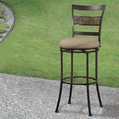 Hoytville 26 Swivel Indoor/Outdoor Patio Bar Stool