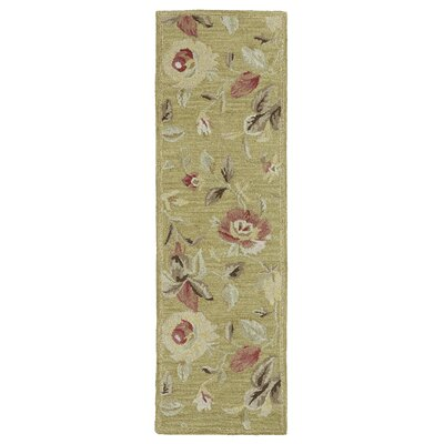 Blakeslee Olive Floral Rug Rug Size: Rectangle 96 x 13
