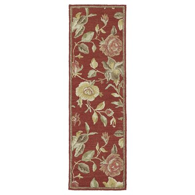 Blakeslee Red Floral Rug Rug Size: Rectangle 76 x 9