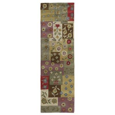 Blakeslee Patchwork Ivory Quilt Rug Rug Size: Runner 23 x 76