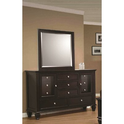 Boehme 11 Drawer Combo Dresser with Mirror