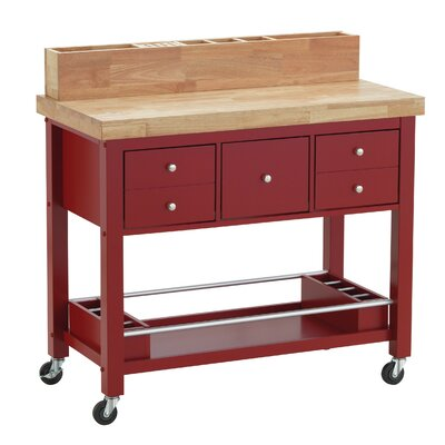 Iron Horse Kitchen Island Base Finish: Red