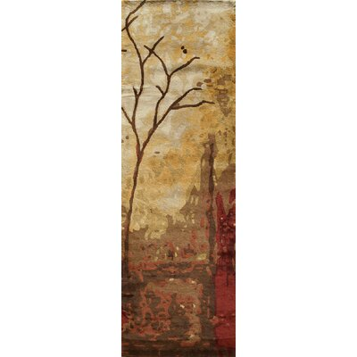 Jackson Hole Hand-Tufted Brown Area Rug Rug Size: Runner 26 x 8