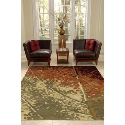 Jackson Hole Hand-Tufted Brown/Beige Area Rug Rug Size: 96 x 136