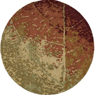 Jackson Hole Hand-Tufted Brown/Beige Area Rug Rug Size: Round 8