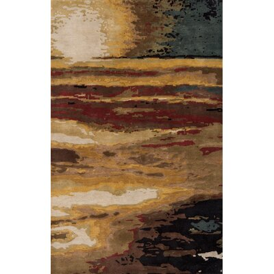 Jackson Hole Hand-Tufted Brown Area Rug Rug Size: 96 x 136