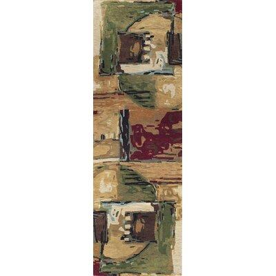 Jackson Hole Hand-Tufted Sand Area Rug Rug Size: Runner 26 x 8
