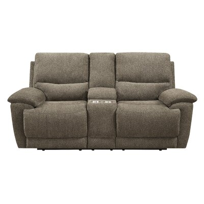 Shuff Motion Console Reclining Loveseat